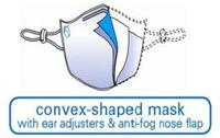 BioMask Anti-Microbial Face Mask, convex shaped mask