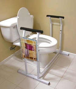 Toilet Safety Support Deluxe Toilet Safety Rail