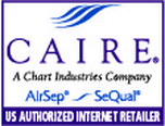 Caire, AirSep, SeQual Authorized Dealer