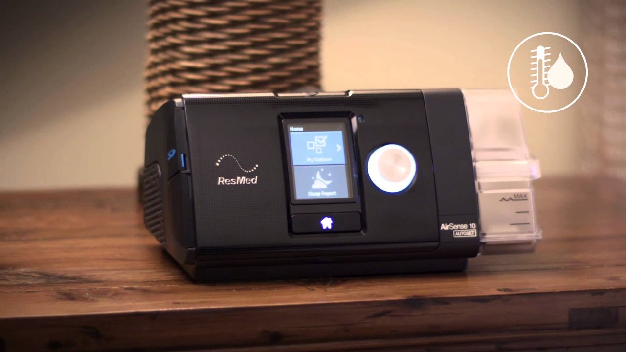 ResMed AirSense™ 10 AutoSet™ CPAP Machine with HumidAir™ Heated Humidifier (Refurbished)